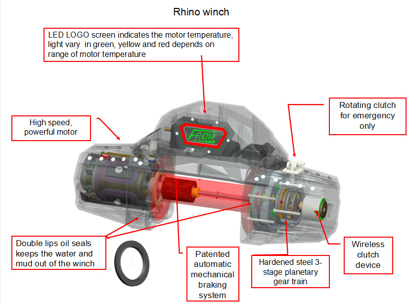 Fromwinch winch for jeep electric clutch winch for Mud motor electric clutch